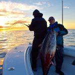 Fisherman with Tuna and Fisherman Fishing Tuna