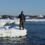 Captain Rice on an Ice Berg