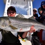 Group on a Boat with Striped Bass