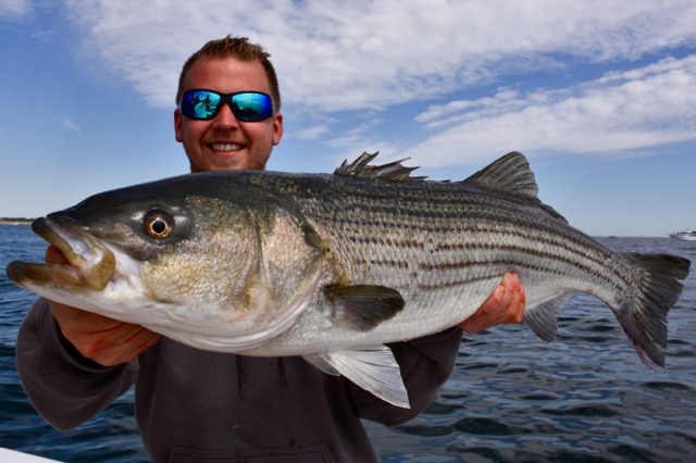 Fisher woman with truro striped bass reel deal fishing for Striper fishing cape cod