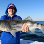 Fisher Woman with Truro Striped Bass