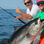 Thumbs Up for a Large Tuna Catch