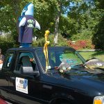 Truro 300 Parade - Truck with Fish on Hood