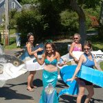 Truro 300 Parade - Women in Ronz Lures Costumes and a Mermaid