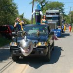 Truro 300 Parade - Truck Float with Shark on Front