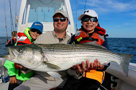 Fishers with Large Striped Bass