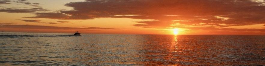 33 Invincible Open Fisherman at Cape Cod Sunrise